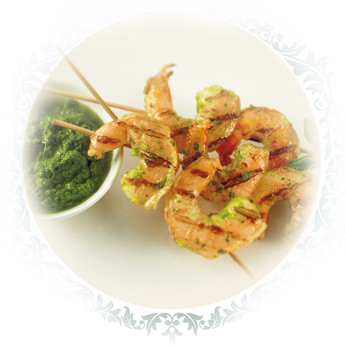 Basil Chimichurri Grilled Gulf Shrimp Skewers